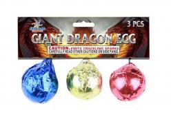 GIANT DRAGON EGGS/CRACKLING BALLS 3's