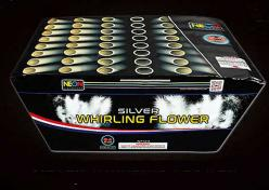 65 SHOT SILVER WHIRLING FLOWERS