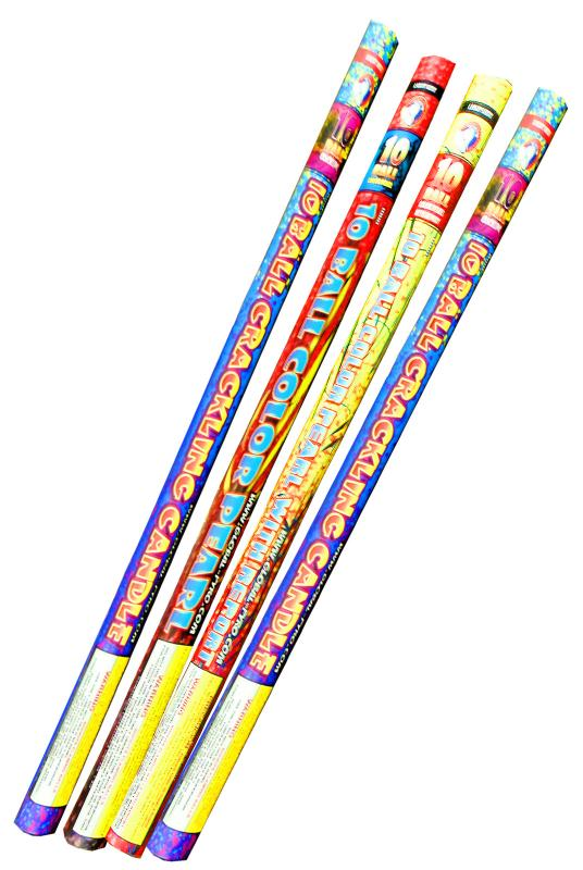 10 BALL ROMAN CANDLE ASSORTMENT 6's
