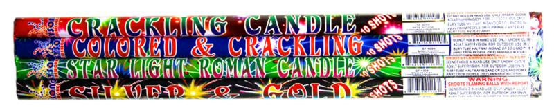 10 BALL ROMAN CANDLE ASSORTMENT 4's