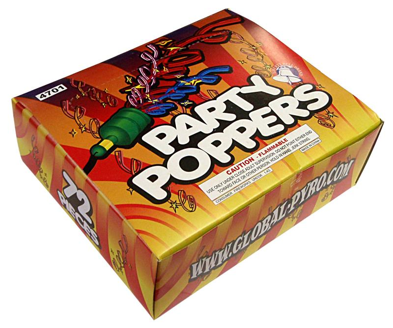 PARTY POPPERS 72's