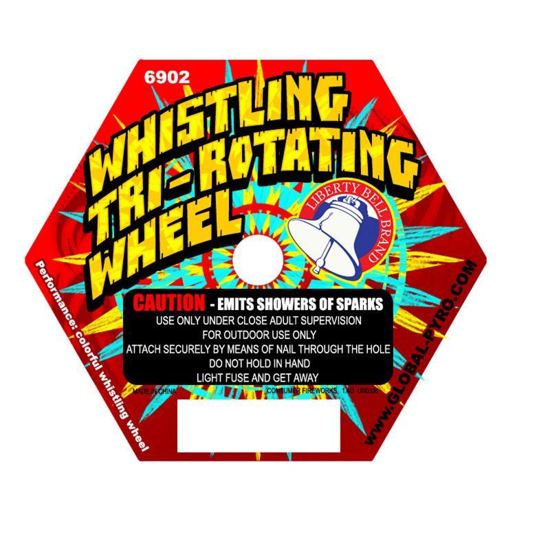 WHISTLING TRI ROTATING WHEELS 6'S