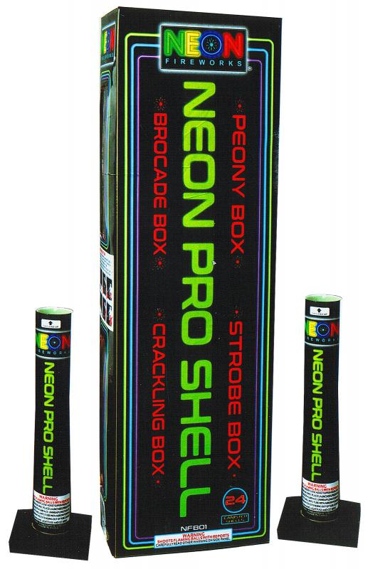 NEON FIREWORKS CANISTER SHELLS 24's