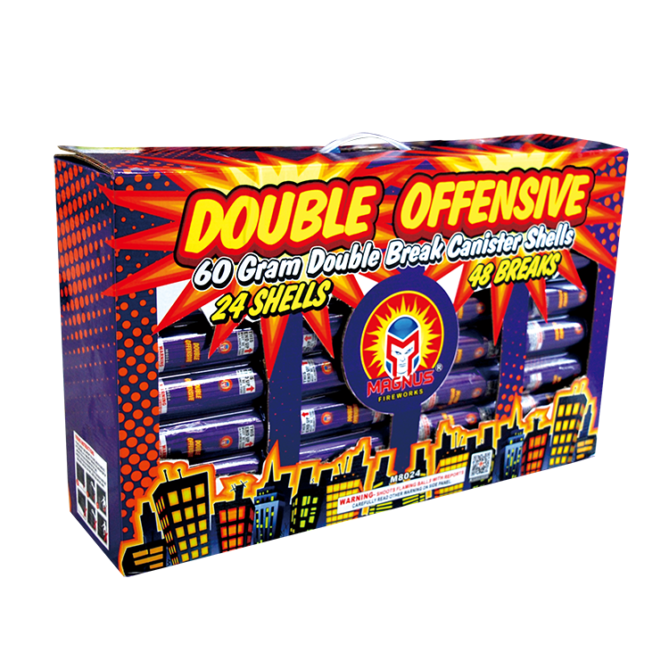 Double Offensive canister shell assortment